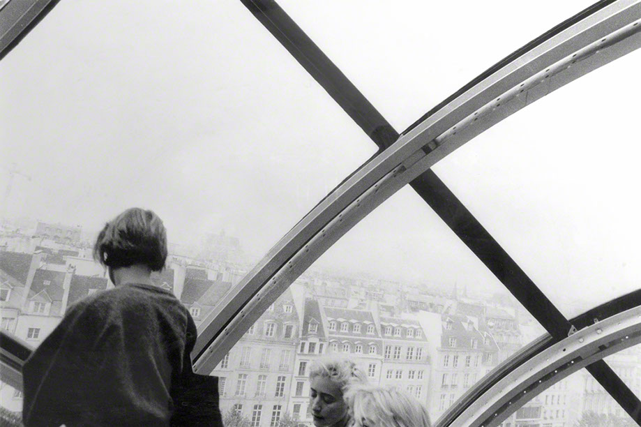Paris Beaubourg foggy Paris France
